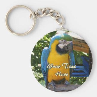 Porte-clés Bleu et porte - clé d'ara d'or