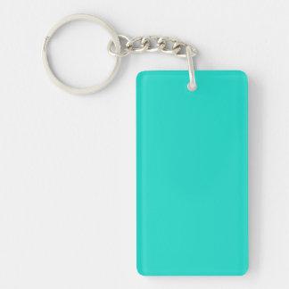 Porte-clés Bleu-Océan de Turquoise-Aigue-marine-Tourmaline du
