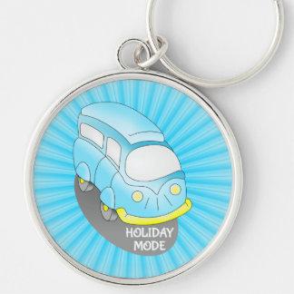 Porte-clés Bleu Van de voyage par la route