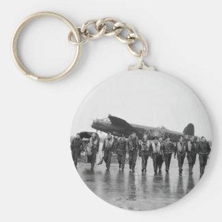 Porte-clés Bombardier RAF de Lancaster de l'équipage aérien