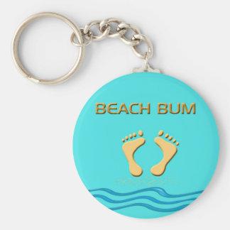 Porte-clés Bon à rien de plage d'amusement avec des pieds