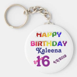 Porte-clés Bonbon 16 à joyeux anniversaire