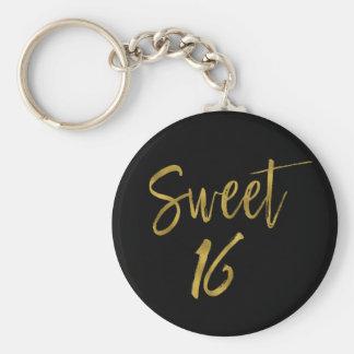 Porte-clés Bonbon porte - clé de feuille d'or de 16