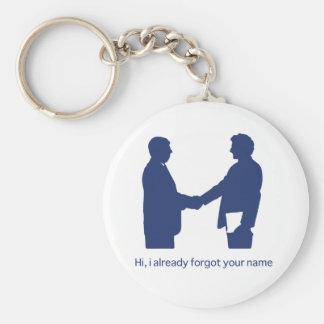 Porte-clés Bonjour, j'ai déjà oublié votre nom