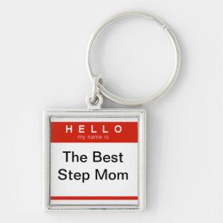 Porte-clés Bonjour mon nom est la meilleure maman d'étape