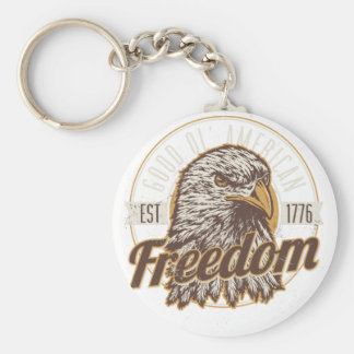 Porte-clés Bonne liberté américaine d'Ol (cru)