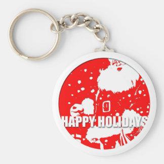 Porte-clés Bonnes fêtes porte - clé du père noël