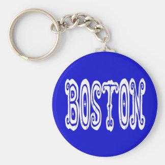 Porte-clés Boston le Massachusetts les Etats-Unis bleus et
