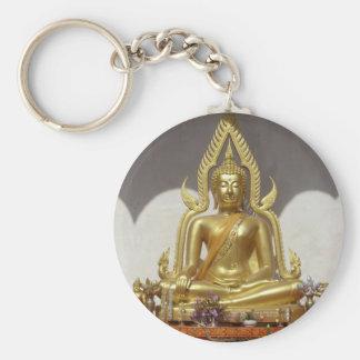 Porte-clés Bouddha thaïlandais d'or