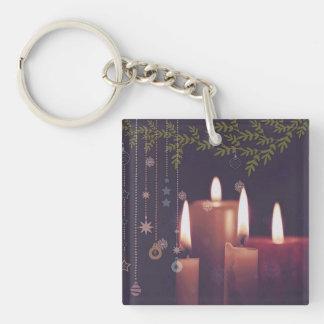 Porte-clés bougies de Noël