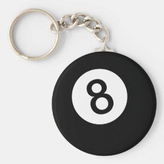 Porte-clés Boule 8 ou boule noire