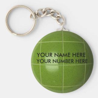 Porte-clés Boule de Bocce de porte - clé avec votre nom,