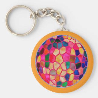 Porte-clés Boule de cristal rougeoyante rouge-clair de SG