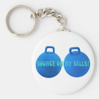 Porte-clés Boules bleues