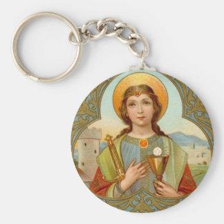 Porte-clés Bouton de base de St Barbara (BK 001)