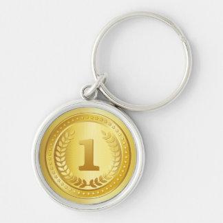 Porte-clés Bouton de gagnant d'endroit de médaille d'or ęr