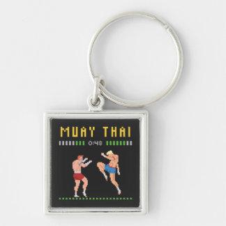 Porte-clés boxe thaïlandaise à 8 bits