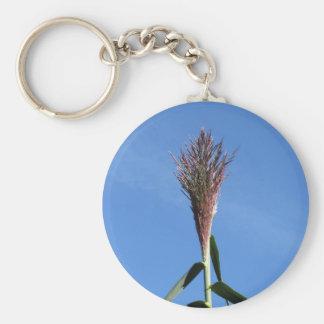 Porte-clés Branche de plante de roseau géant avec la fleur