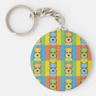 Porte-clés Bruit-Art de bande dessinée de Schnauzer miniature