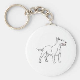Porte-clés Bull-terrier blanc