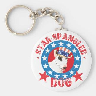 Porte-clés Bull-terrier patriotique