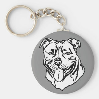 Porte-clés Bull-terrier STAFFY du Staffordshire