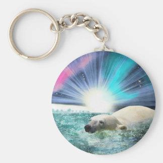 Porte-clés Cadeau arctique de faune d'ours blanc