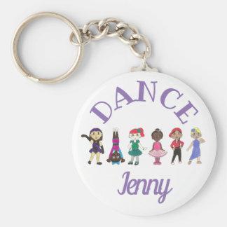 Porte-clés Cadeau de ballerine personnalisé par jazz de
