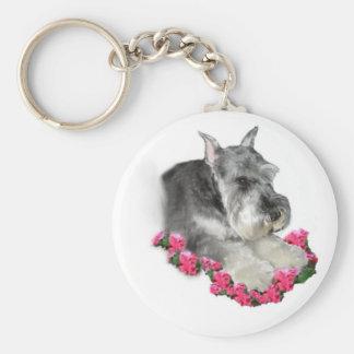Porte-clés Cadeaux d'art de Schnauzer miniature