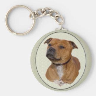 Porte-clés Cadeaux de bull-terrier du Staffordshire