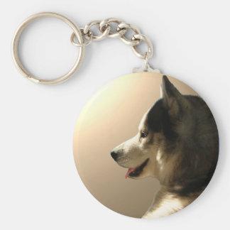 Porte-clés Cadeaux de chien de traîneau sibérien/Malamute de