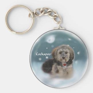 Porte-clés Cadeaux de Noël de Cockapoo