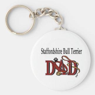 Porte-clés Cadeaux de papa de bull-terrier du Staffordshire