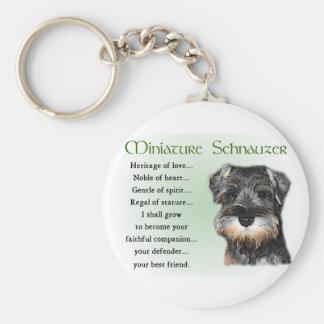 Porte-clés Cadeaux de Schnauzer miniature