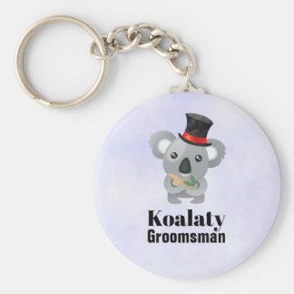 Porte-clés Calembour mignon Koalaty Groomsman de koala
