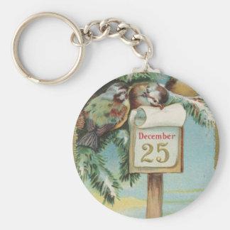 Porte-clés Calendrier vintage d'avènement
