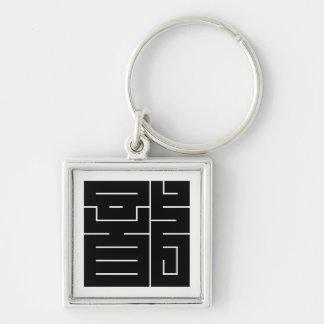 Porte-clés Caractère de kanji carré pour le dragon