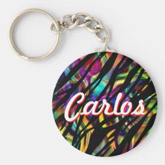 Porte-clés Carlos a personnalisé le porte - clé coloré