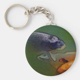 Porte-clés Carpe de Koi dans l'étang à poissons