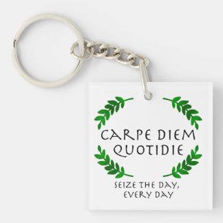 Porte-clés Carpe Diem Quotidie - saisissez le jour, chaque