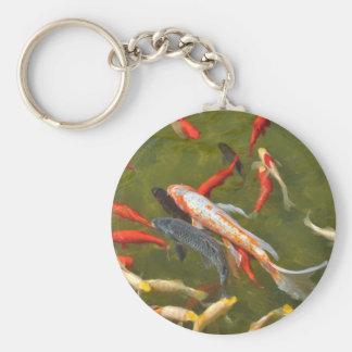 Porte-clés Carpes de Koi dans l'étang