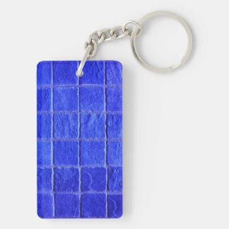 Porte-clés Carreaux arrière-plan bleus