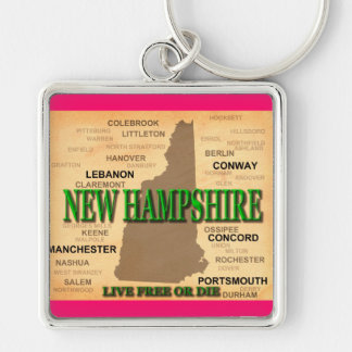 Porte-clés Carte de cru du New Hampshire