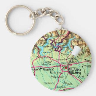 Porte-clés Carte de Pin de la ville de Milan, Italie