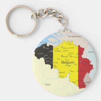 Porte-clés Carte de porte - clé de la Belgique