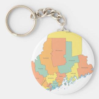 Porte-clés Carte du comté du Maine
