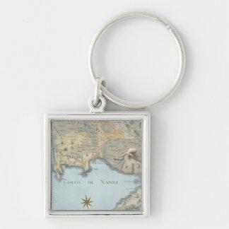 Porte-clés Carte du Golfe de Naples et d'abords