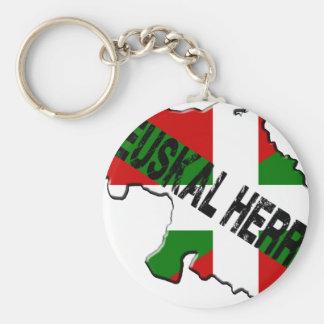 Porte-clés Carte pays basque plus drapeau euskal herria