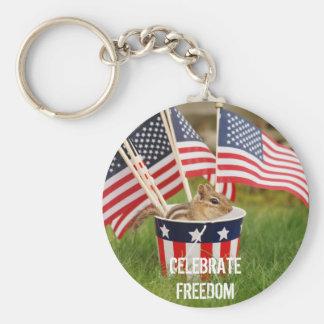 Porte-clés Célébrez le porte - clé de tamia de liberté