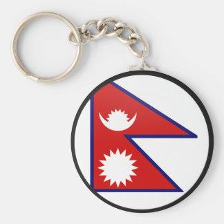 Porte-clés Cercle de drapeau de qualité du Népal
